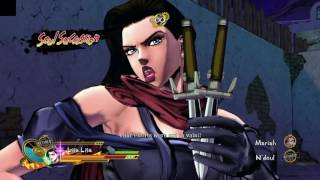 lisa lisa and jotaro kujo vs n doul and mariah jjba eyes of heaven