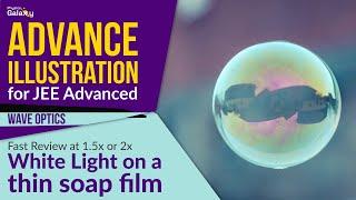 11. Physics | Wave Optics | White Light on a thin soap film | by Ashish Arora