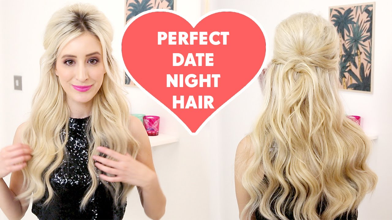 the ultimate first date hairstyle with hair extensions - youtube