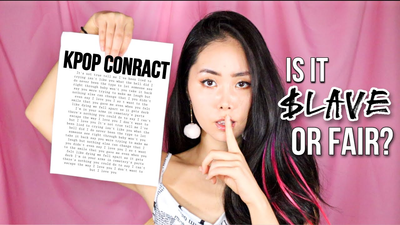 Reading The Official Kpop Contract. Is It Fair? Money Split? Problems? #Businesstalk
