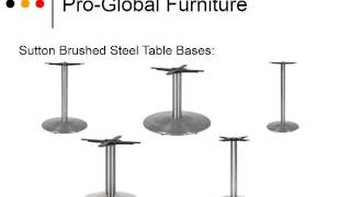 Table Bases & Legs - Uk's Largest Selection Only @ Pro-global Furniture