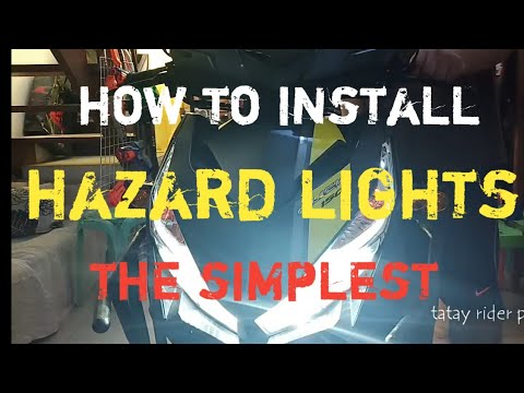 How To Install Hazard Lights On Motorcycle. Honda Click.