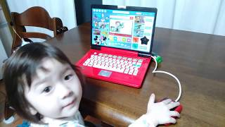 サンタさんから貰ったミッキーノートパソコンです♪ チャンネル登録お願...