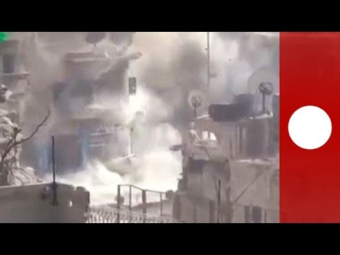 Amateur footage allegedly shows Aleppo under attack, destruction of cities