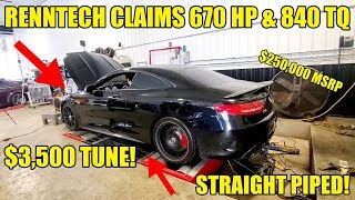 CRAZY AUCTION FIND! $250K Straight Piped RennTech S65 AMG Coupe! Dyno Battle VS My Cheap DIY E55 AMG