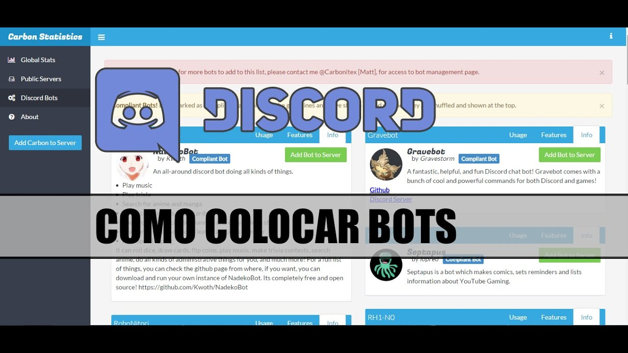 Como colocar bots no discord tutorial youtube ccuart Gallery