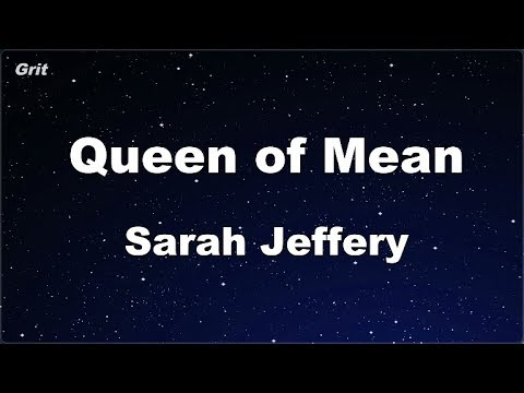 queen-of-mean---sarah-jeffery-karaoke-【no-guide-melody】-instrumental