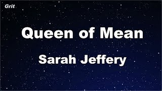 Queen of Mean - Sarah Jeffery Karaoke 【No Guide Melody】 Instrumental