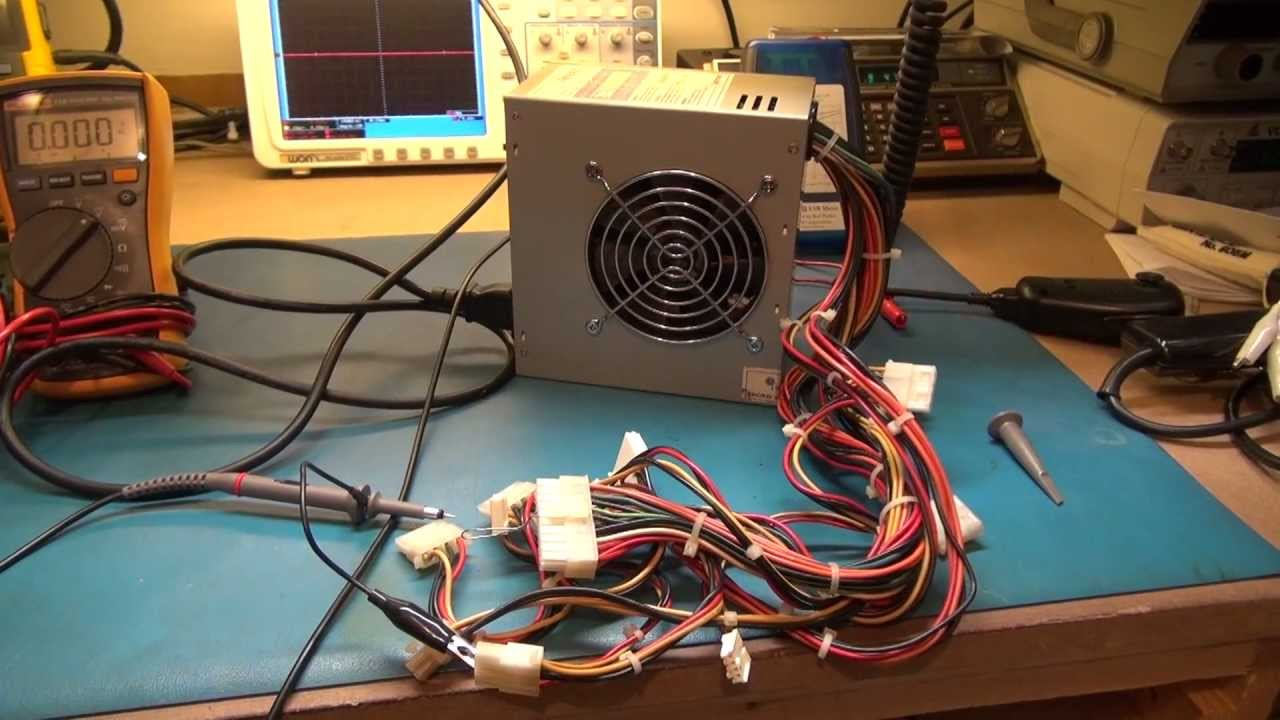 Computer ATX Power supply Repair Test After repair. - YouTube