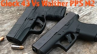 glock 43 vs walther pps m2 2 very sharp single stacks