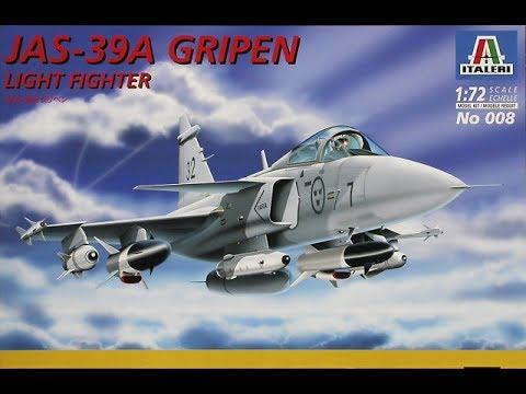 Italeri Saab JAS 39 Gripen 1,72nd Scale
