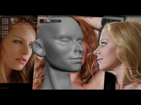 Sculptris: Speed Sculpt Female head.