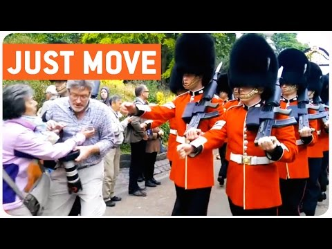 Queen's Guards March Over Tourist | Make Way