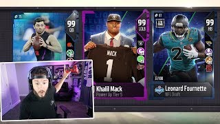 CRAZY NEW 99 OVERALLS!! RAIDERS STEAL THE DRAFT | MADDEN 18 PACK OPENING