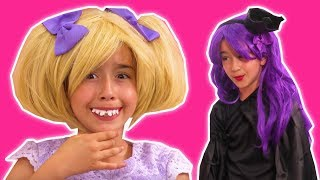 MALICE S MAGIC GUMMY PRANK  Esme s Teeth Are Transformed Princesses In Real Life Kiddyzuzaa