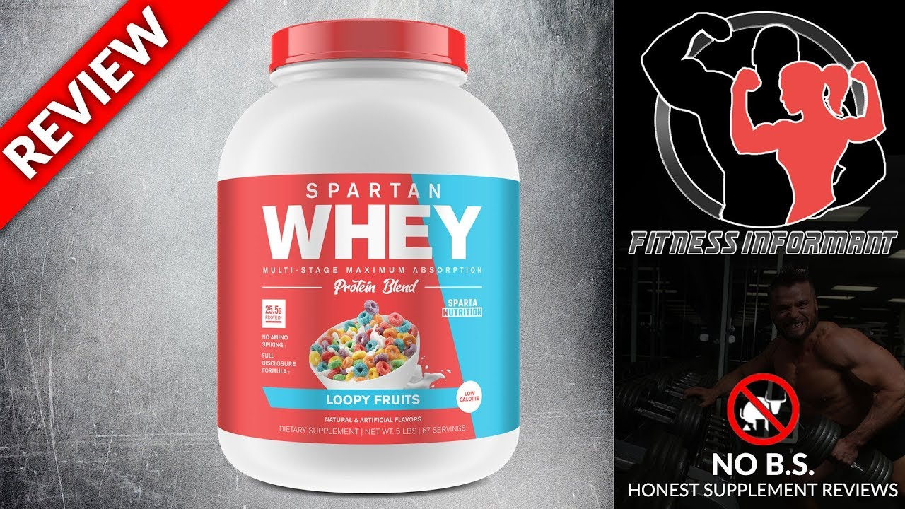 Sparta Nutrition Spartan Whey REVIEW (NO B S - 100% Honest)   Fitness  Informant