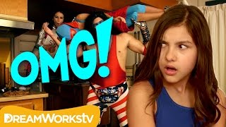 Pro Wrestling Family - Embarassed at Home!   OMG