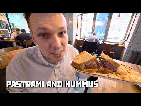 "Jewish Pastrami and Hummus at ""Dickman's Deli"". St Petersburg, Russia"