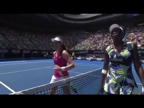 Venus Williams v Johanna Konta highlights (1R)   Australian Open 2016