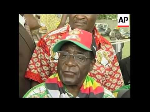 Last-minute election campaigning, Mugabe comments