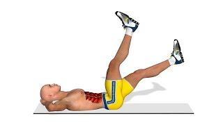 Untere Bauchmuskeln trainieren: Anheben der Beine im 4-Takt
