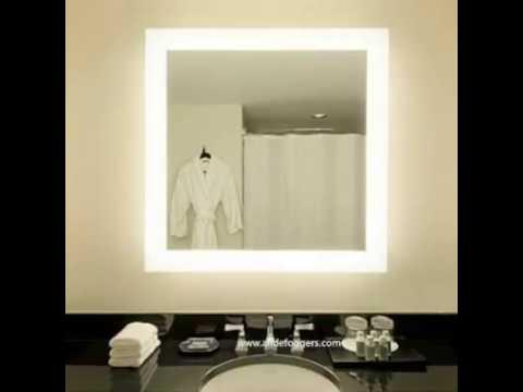 miroirs de salle de bain lumineux en led youtube. Black Bedroom Furniture Sets. Home Design Ideas
