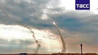 Боевые стрельбы из С-300 по мишеням на высоте до 18 км