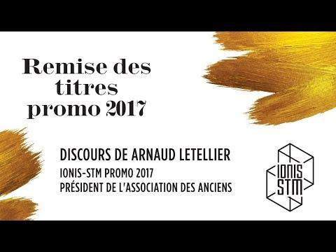 Discours du Président de l'association des Anciens - remise des titres promo 2017