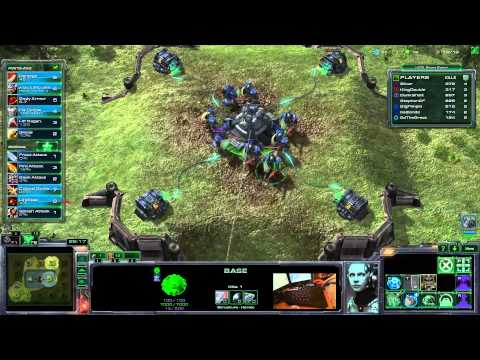Starcraft 2 Heart Of The Swarm - PIMP MY FOOTMAN Arcade Game - Learning 2 Play Protoss Zerg Terran