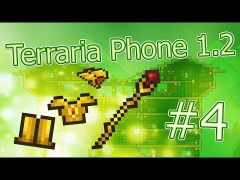 видео: lp. terraria phone #4 (Золотая броня и новый посох :3)