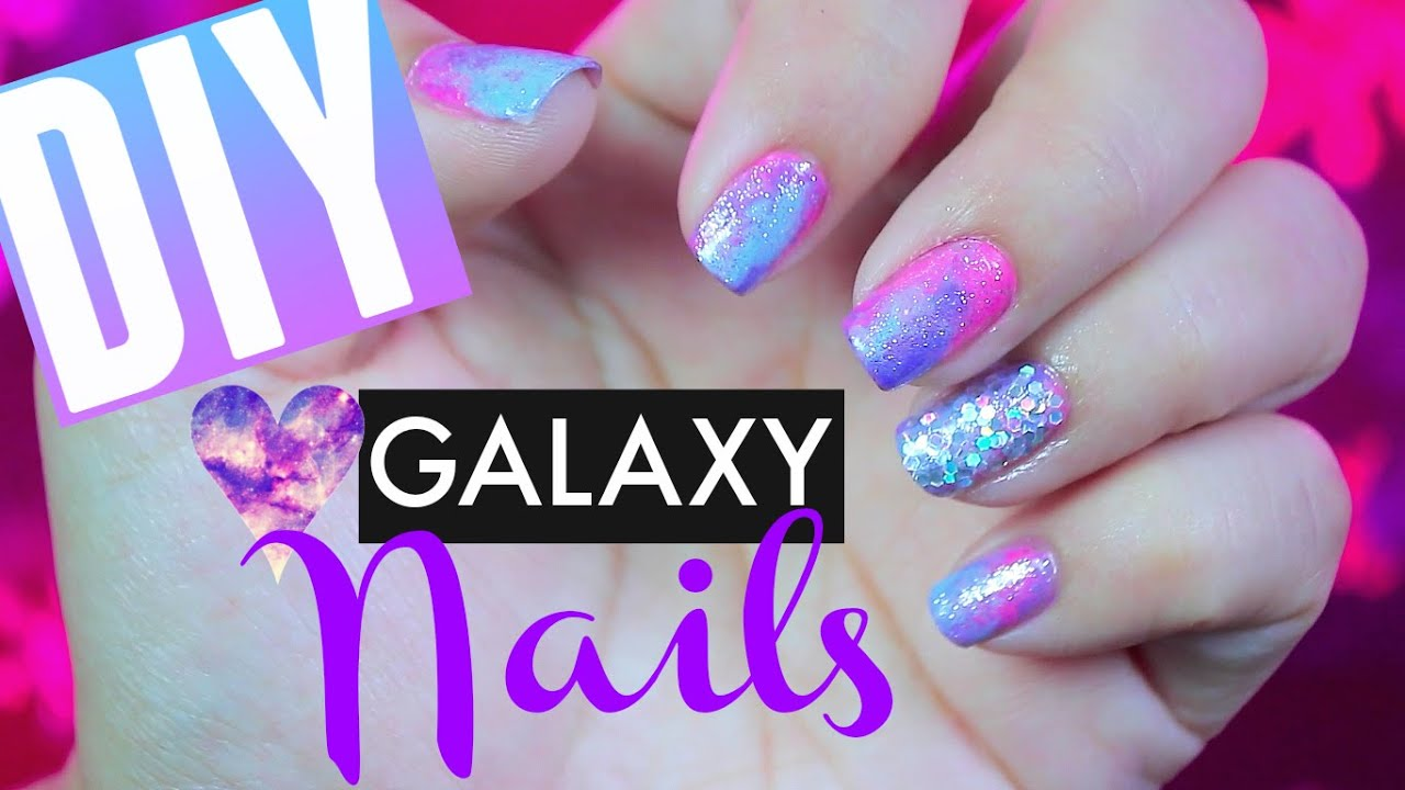 How To Diy Pink Galaxy 80s Inspired Disco Nails Pinterest