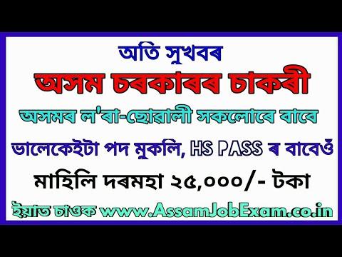 Assam Government Job Recruitment AAU Contractual Post