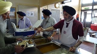 Why does Free Indian Food (Langar) get served at Sikh Temples? Interview at Southall Gurdwara London
