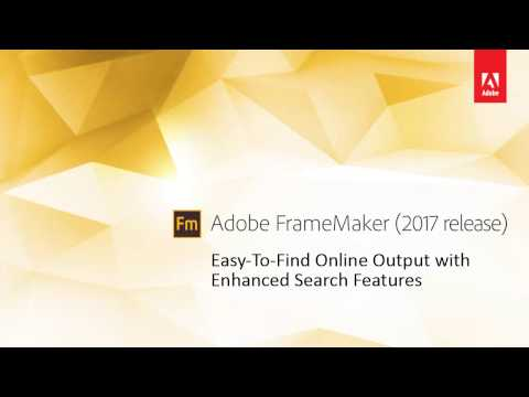 FrameMaker 2017: Indexing for Enhanced Search