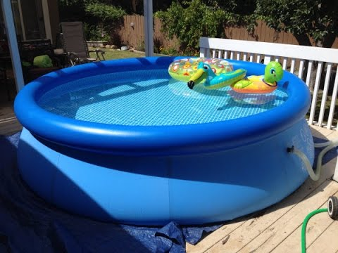 Intex Easy Set Pool Review Inflatable Pool Youtube