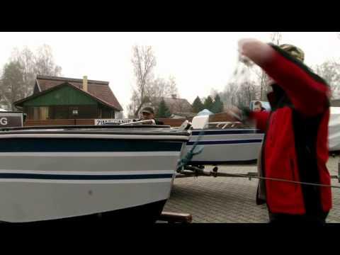Test łodzi na Jeziorze Turawskim