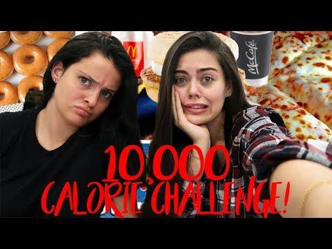 10,000 CALORIE FOOD CHALLENGE! GIRL VS FOOD!