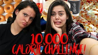 10,000 CALORIE FOOD CHALLENGE! GIRL VS FOOD!