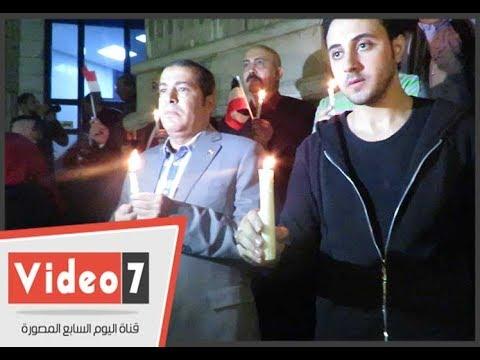 وقفة بالشموع أمام نقابة الصحفيين تحت شعار - معا ضد الإرهاب-  - 20:22-2017 / 11 / 27