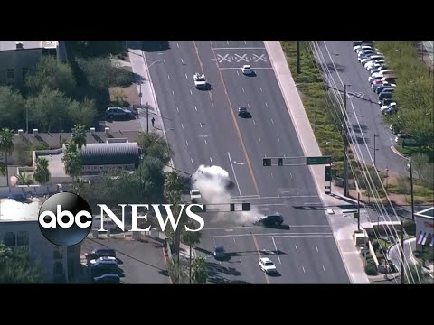 Traffic stop chase ends in head-on collision