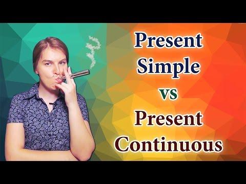 English Present Simple vs Present Continuous, Present Progressive, part 1