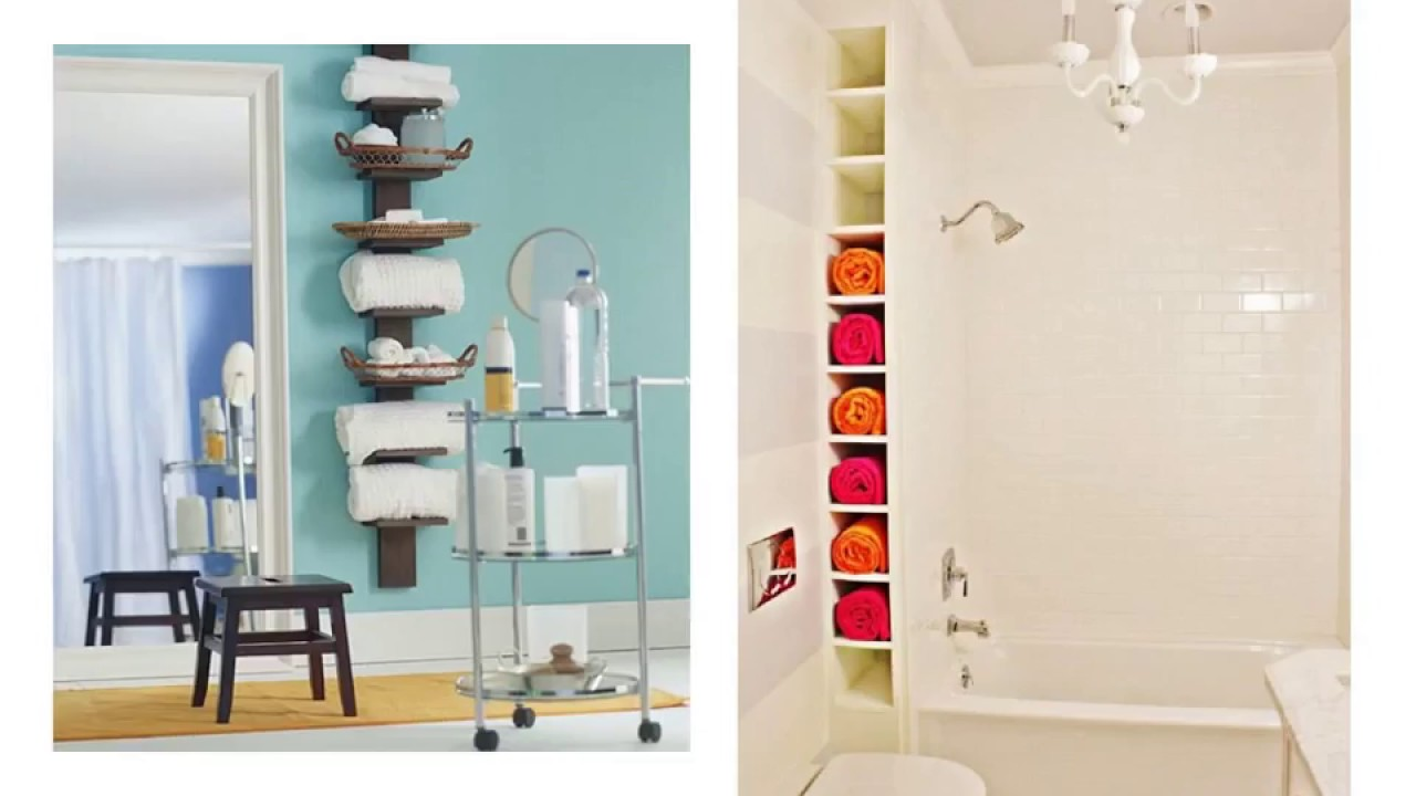 Modest Towel Storage for Small Bathroom - YouTube