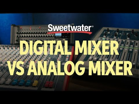 Digital Mixer vs Analog Mixer –What's the Difference? | Studio Lesson 🎛