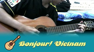 Bonjour Vietnam Guitar Solo Cover - Thinh Pham