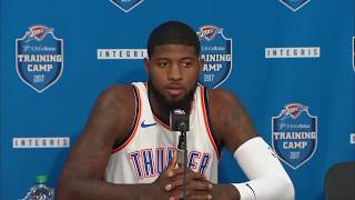 (FULL) Thunder's Paul George press conference | 2017 NBA Media Day | ESPN