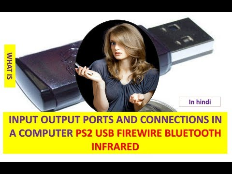 INPUT OUTPUT PORTS AND CONNECTIONS IN A COMPUTER PS2 USB FIREWIRE