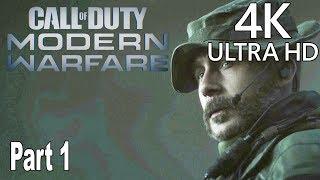 Call of Duty: Modern Warfare (2019) - Gameplay Walkthrough Part 1 No Commentary [4K]