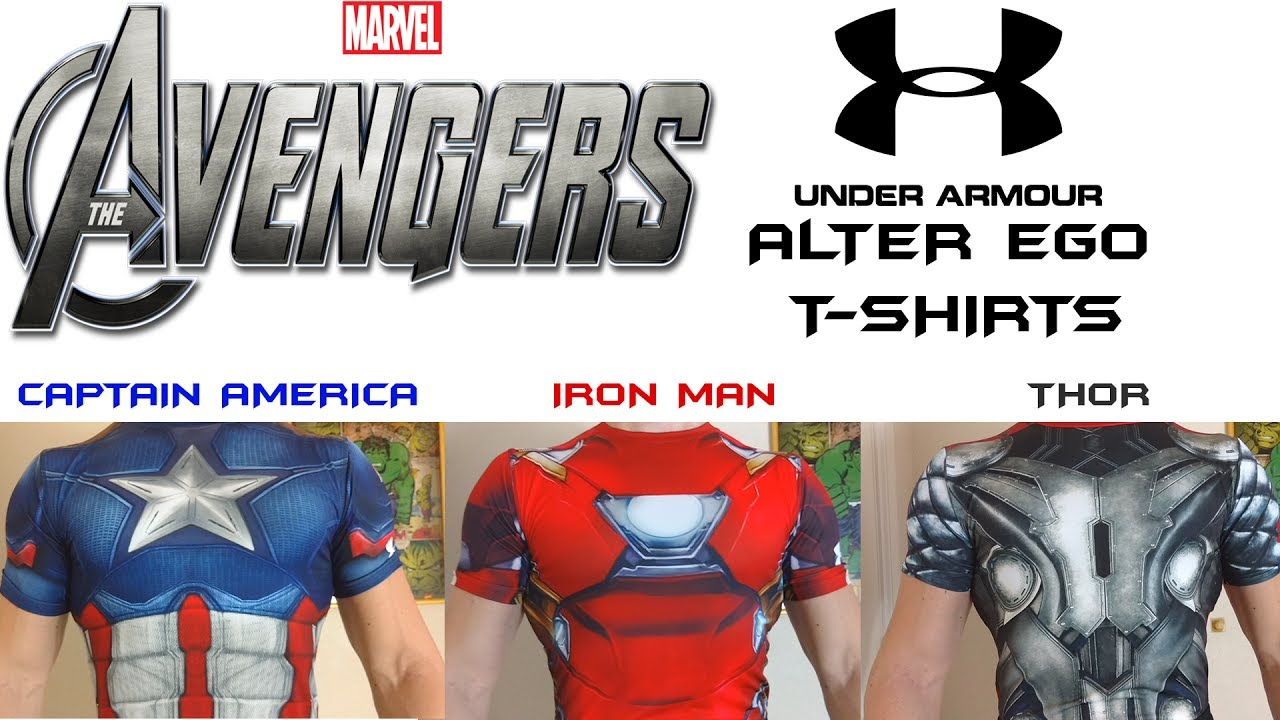 discount up to 60% attractive style fashion Marvel's Avengers - Under Armour Alter Ego compression T-shirts
