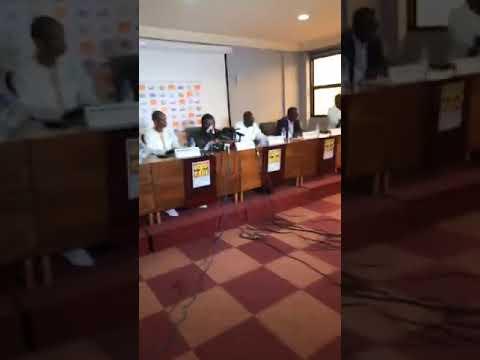 Conférence De Presse D'Aliou Cissé Pour La Liste Des 23 Lions Contre Madagascar