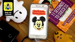 How to Draw Mickey Mouse on Snapchat